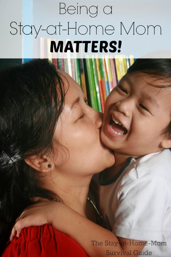 Being a stay-at-home mom matters in the lives of our children. It is not wasted time,.