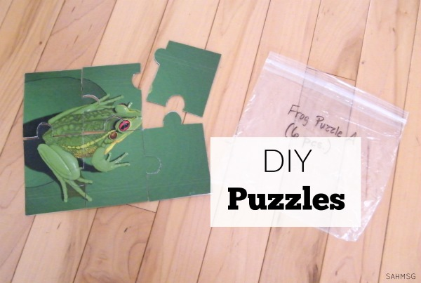 Make your own puzzles for kids with these ideas for DIY puzzles.