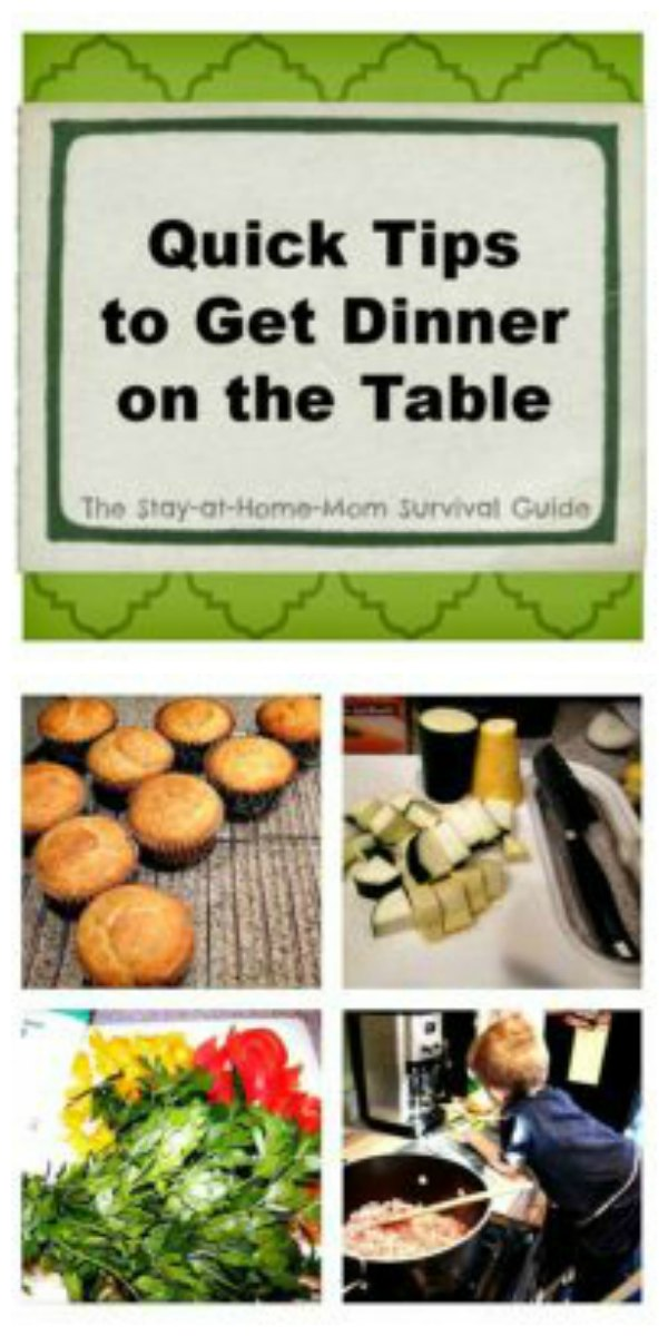 Quick tips to get dinner on the table fast whether you work late, or have a busy household of kids...or both!