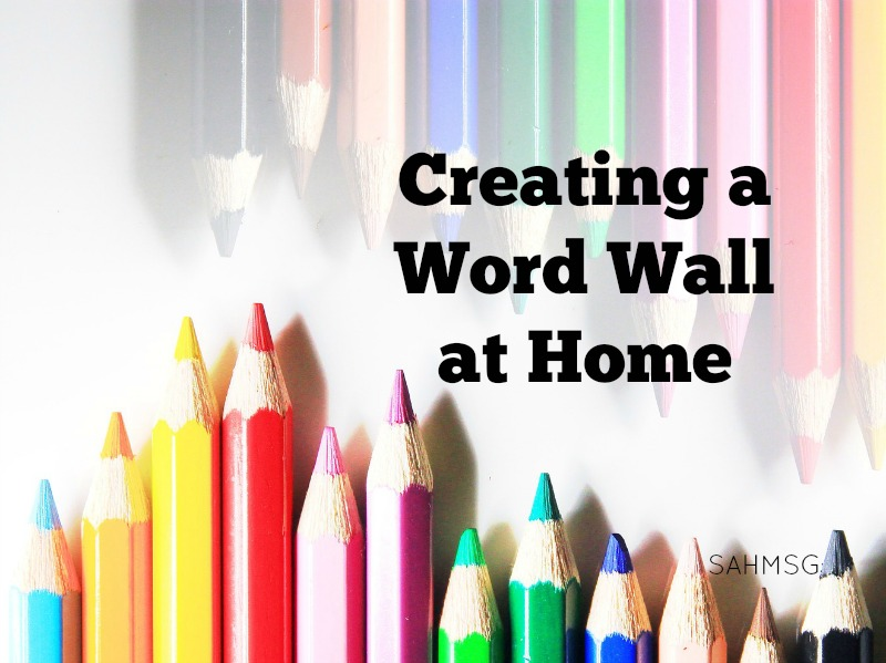 How to create a word wall at home for toddlers, preschool or school age kids. Simple ideas to encourage pre-reading and reading skills at home.