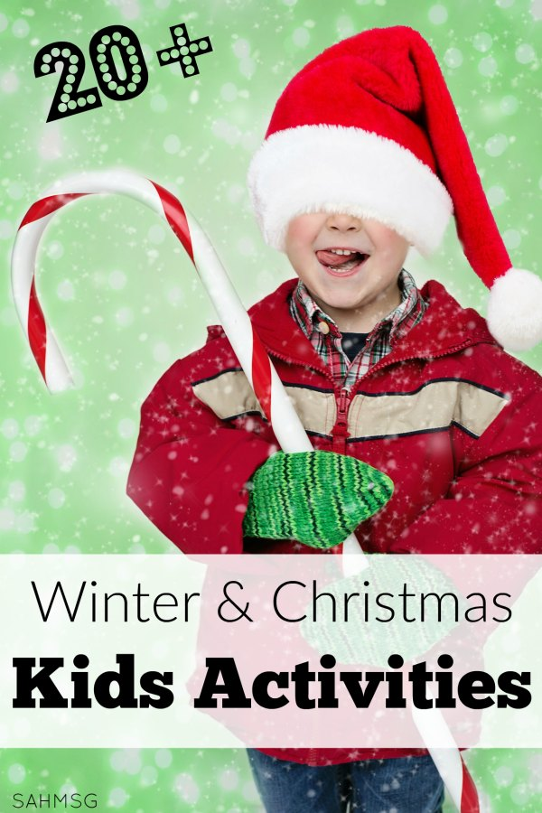Over 20 winter and Christmas kids activities for all ages and many can be turned into homemade gifts.