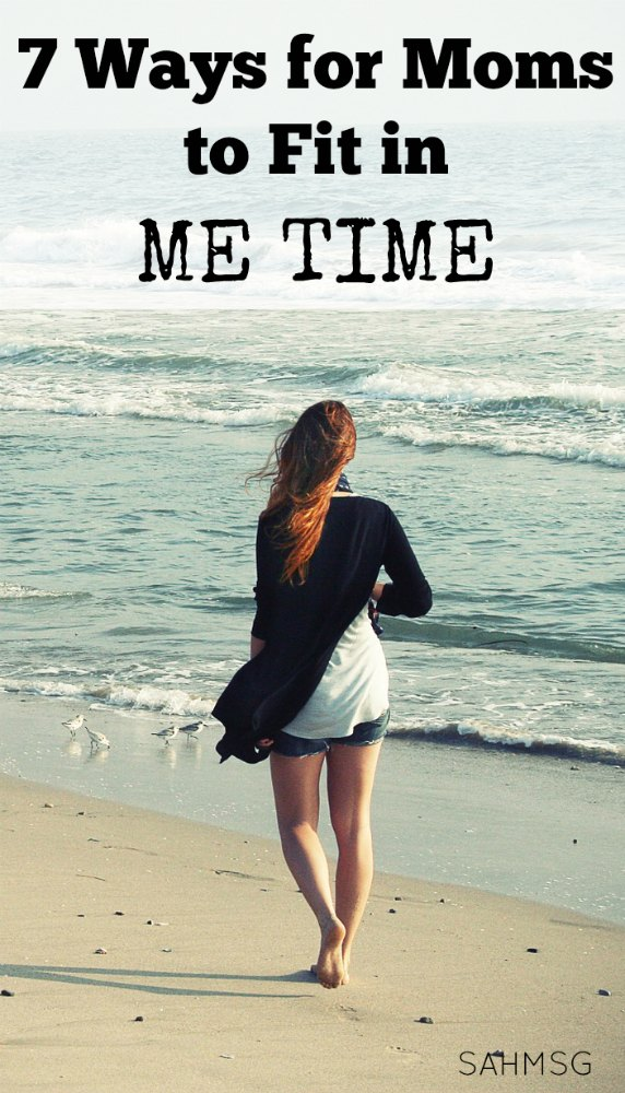 Tough to get your me time mom? Fit in me time with these 7 me time ideas for moms. No babysitter needed!