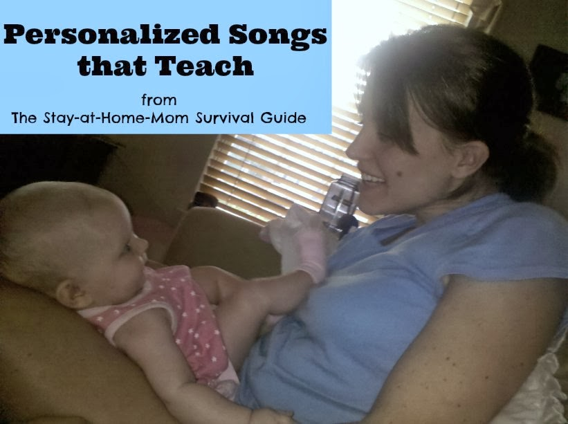 Personalized Songs that Teach name spelling and counting from The Stay-at-Home-Mom Survival Guide