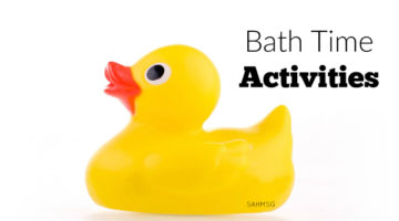Bath time activities for kids-toddlers, preschool and school age kids. Make bath time fun with these simple ways to entertain your child in the bath.