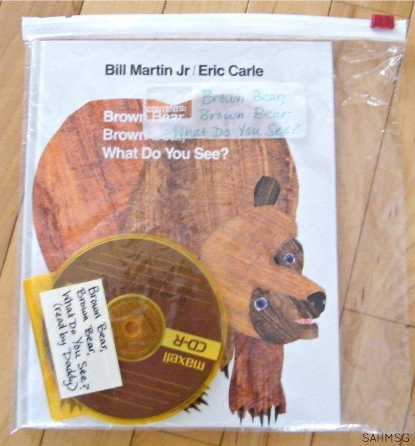Books on CD recorded by you for your child. Great for parents who travel for work or are military. Free download software makes this easy to DIY.