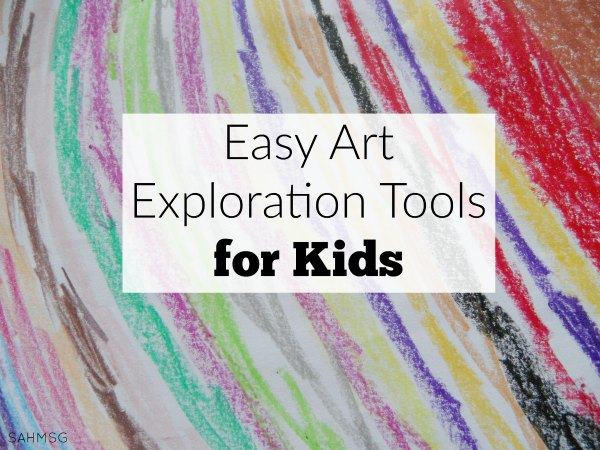 easy art exploration tools for kids