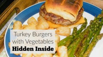 Picky eaters? Try these turkey burgers with vegetables hidden inside! My picky eaters loved them.