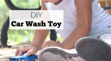 Make this easy DIY car wash toy for kids who love playing with toy cars.