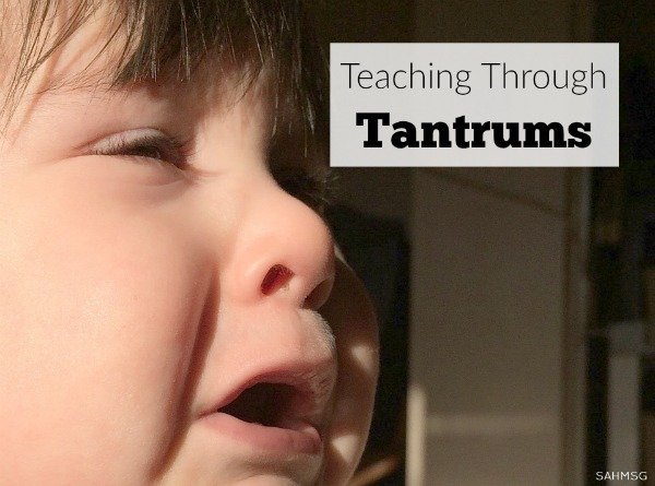 Tantrums are a part of childhood. They can relate to a child's developmental stage and their age. Teaching through tantrums take a few lessons that teach your child how to manage their emotions as they grow.