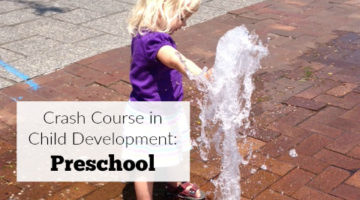 "Preschool age is not the the time when children ""get easy"" to parent. No, the three-nager stage will keep you on your toes, moms and dads. This crash course in child development: preschool will guide you through this interesting stage of your child's life to help you navigate parenting a preschooler."