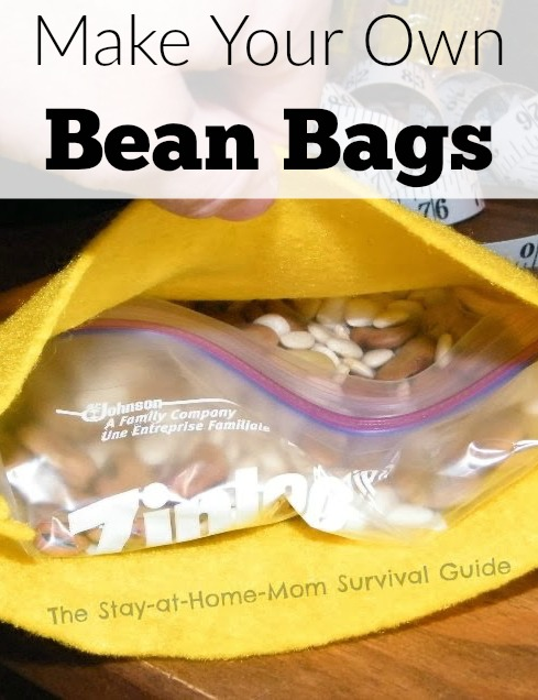 Make your own bean bags! So easy to sew and stuff DIY bean bags for the kids to play with indoors. These have lasted years!