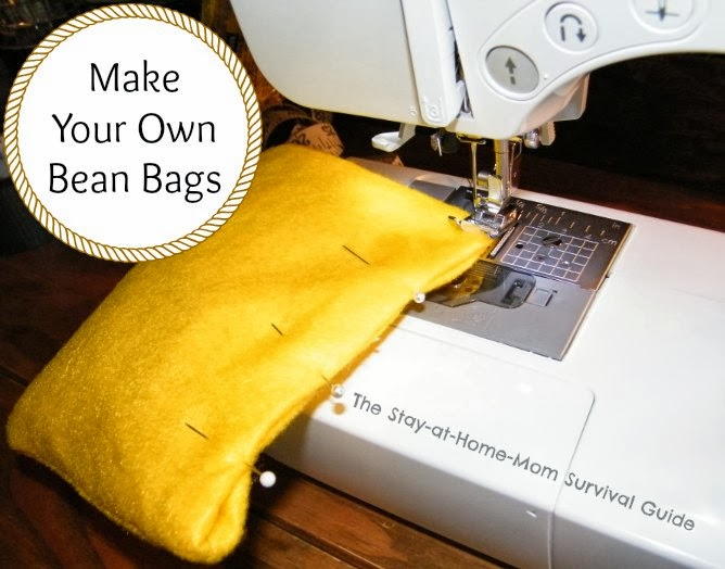 How to make a bean bags Sew Bean Make Your Own Bean Bags With This Diy Bean Bags Sewing Project That Is Simple The Stayathomemom Survival Guide Make Your Own Bean Bags The Stayathomemom Survival Guide