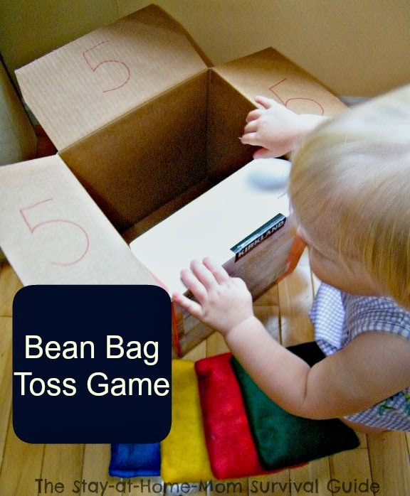 DIY bag toss game from The Stay-at-Home-Mom Survival Guide
