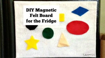 DIY Magnetic Felt Board for the Fridge