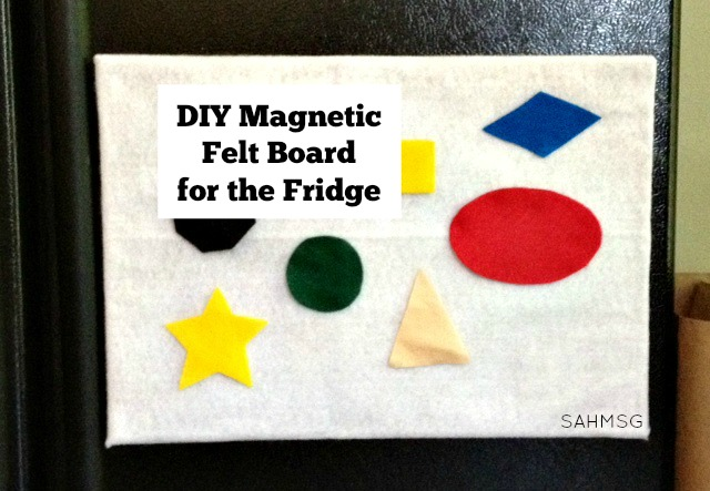 Sanity Saver for Moms: Dinner time prep can be calm! Turn the front of the refrigerator into a felt board play space-simple DIY felt board for the front of the fridge.