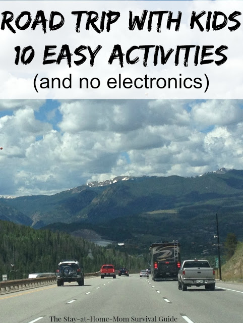 Going on a road trip or traveling with kids? These 10 activities and tips will keep the kids off electronics and content in the car-from a mom who has traveled thousands of miles on road trips with kids!