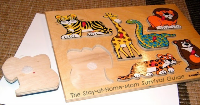 Alter puzzle pieces to make them convenient for travel with kids.