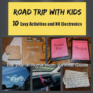 Planning a road trip with kids? Here are 10 easy to organize activities plus some tips for your next car trip and none involve electronics.