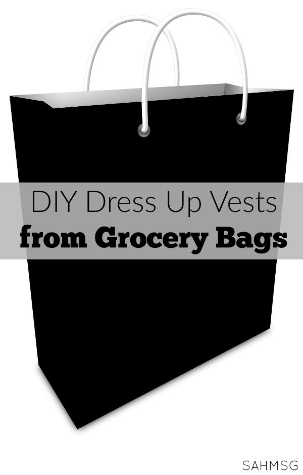 No-sew dress up costumes: DIY dress up vests.