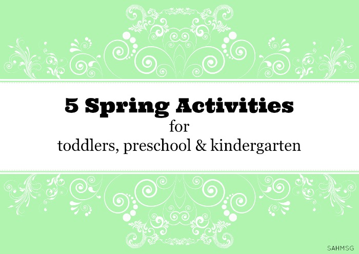 Spring activities for kids from toddlers, preschool, and to kindergarten age. A variety of learning activities that can be adapted easily to fit each age group.