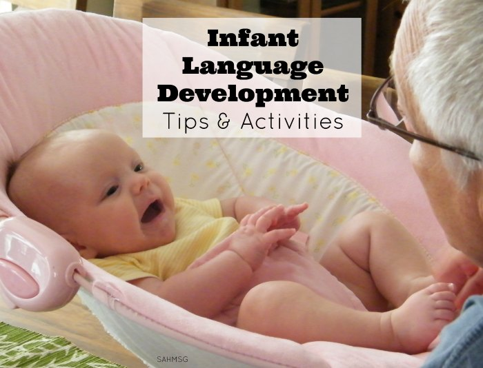 Spark your infants language development with tips and activities shared by a speech language pathologist.