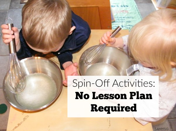 Preschool sensory spin-off activities no lesson plan required. These are perfect for Spring and Easter time.