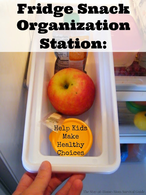 Helping Kids Make Healthy Food Choices: Snack Organization Station