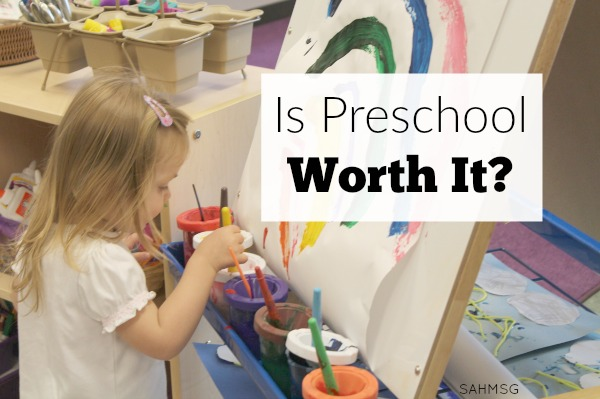 Trying to decide whether to pay for preschool or not? Is preschool worth it? Here are 4 factors to consider before paying for preschool from a mom of 4 and former preschool teacher.