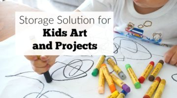 Storage Solution for Kids Art and Projects