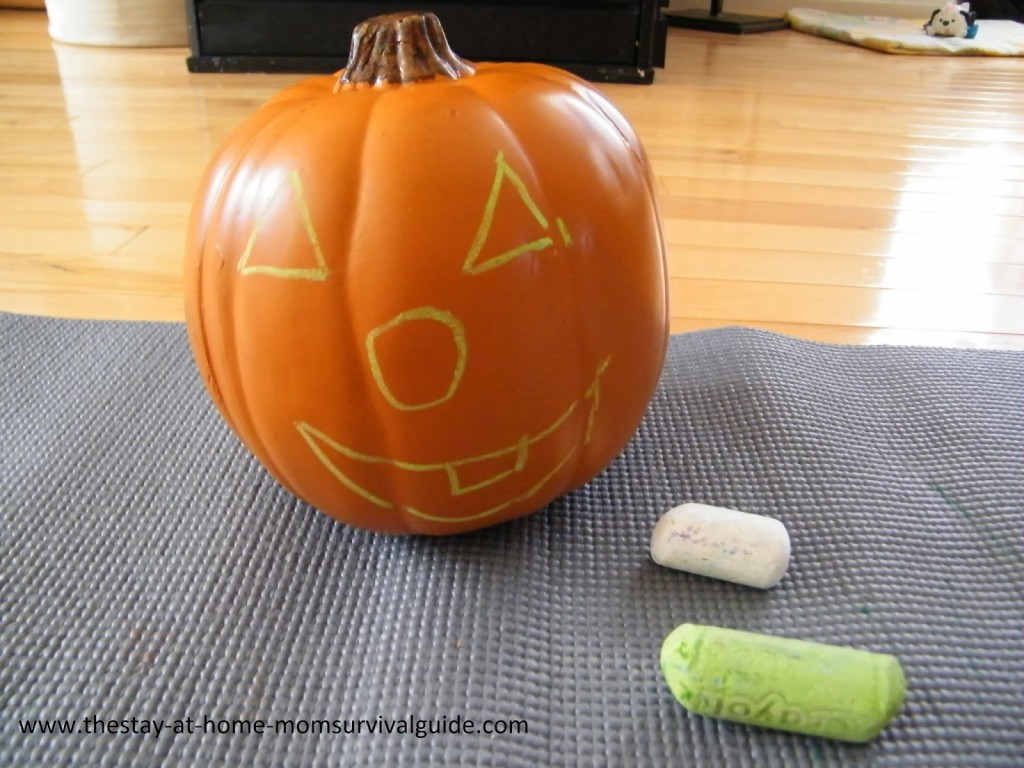 2 chalk and craft pumpkin creations - How To Draw Halloween Things For Kids