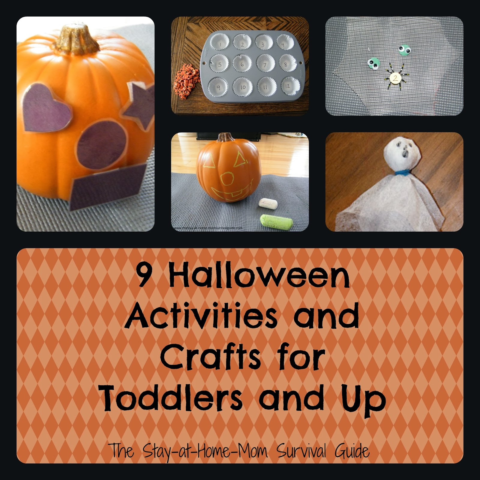 9 Halloween Activities and Crafts for Toddlers, Preschool and School Age kids.
