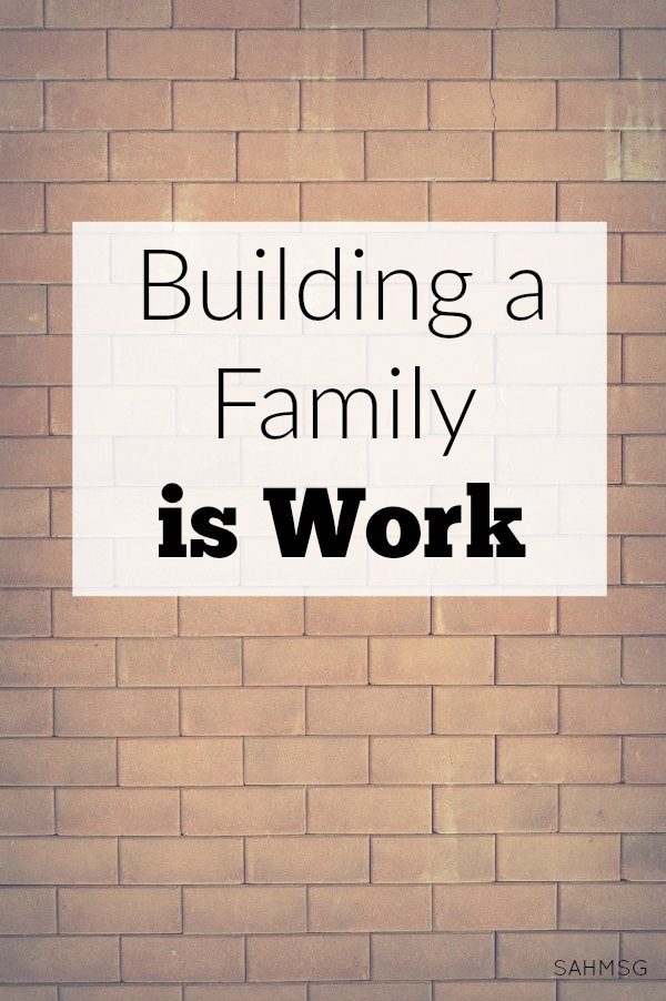 Building a family is work. That is what we do as moms. We lay a foundation of love and support. We BUILD our family from the ground up!
