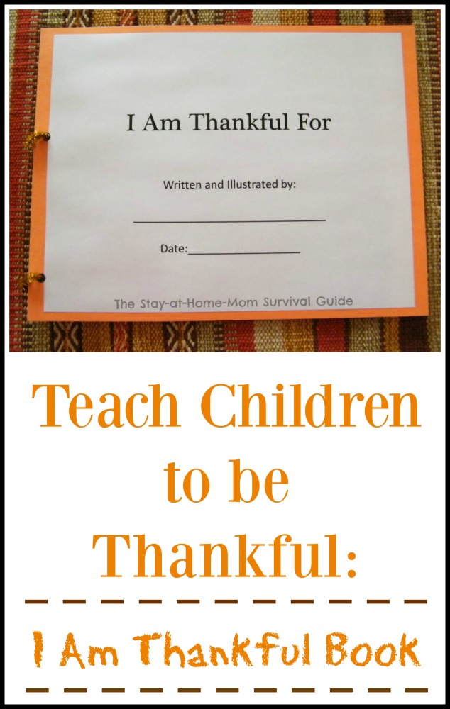 I Am Thankful for book for children to make. A simple Thanksgiving activity for kids to encourage being thankful.