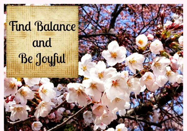Find balance and be joyful in motherhood. Foc