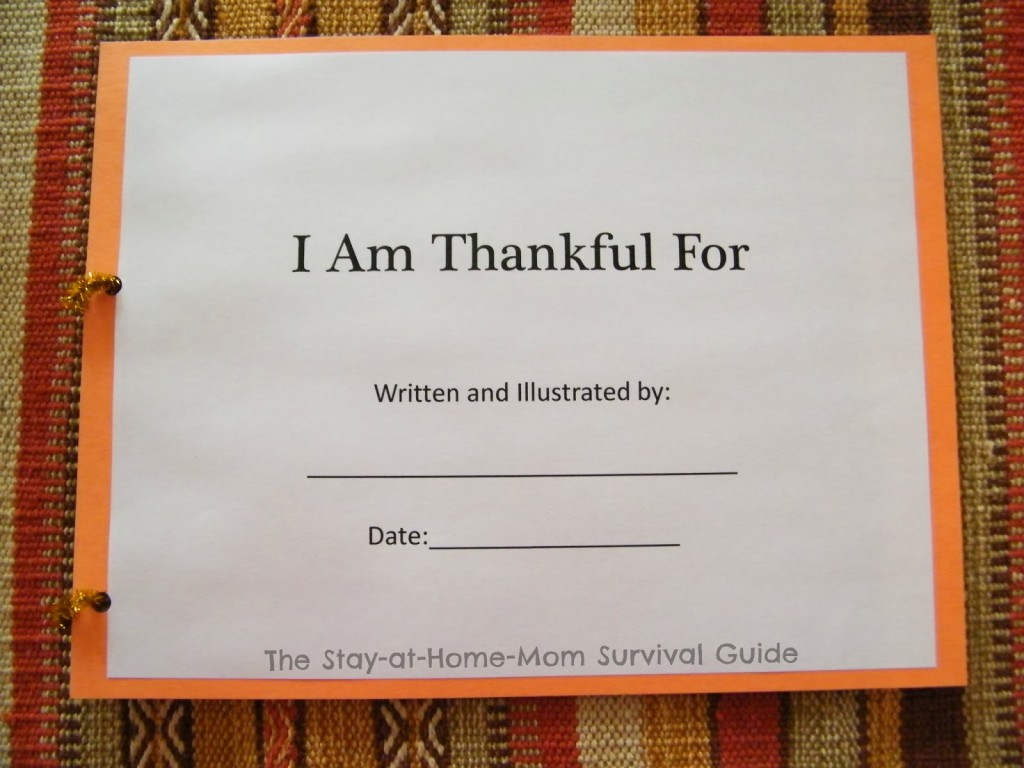 I Am Thankful Book For Children to Make   The Stay-at-Home