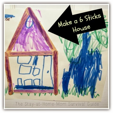 Six Sticks house activity for kids
