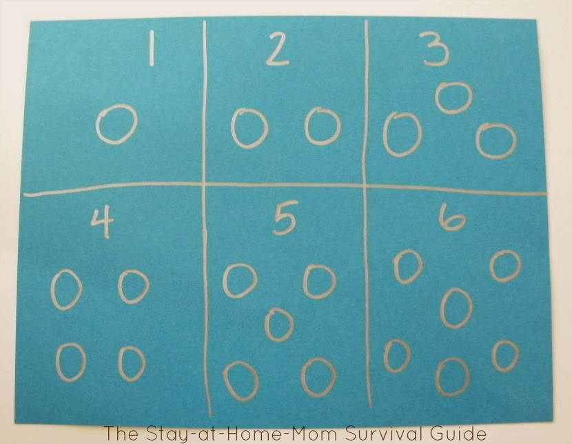 math and counting learning activity for preschoolers