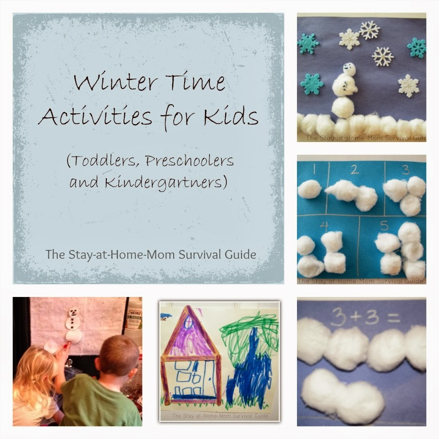 Winter Activities to prevent cabin fever for toddlers, preschoolers and kindergartners.