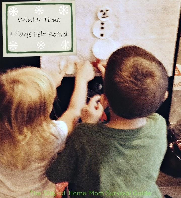 DIY Winter Time Fridge Felt Board