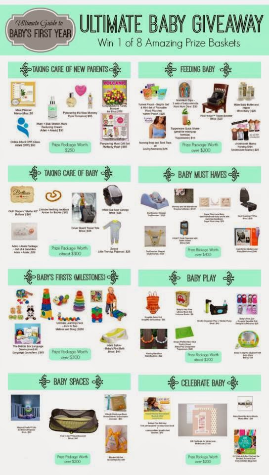 Prize collections in the Ultimate Guide to Baby's First Year Series