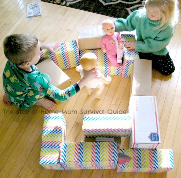 Your child's creativity is the limit playing with these DIY jumbo building blocks.