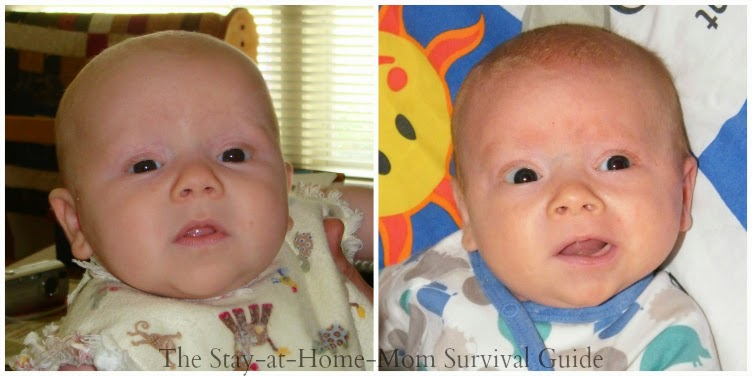 Our two boys look identical in their baby pictures yet they were born 6 years apart.