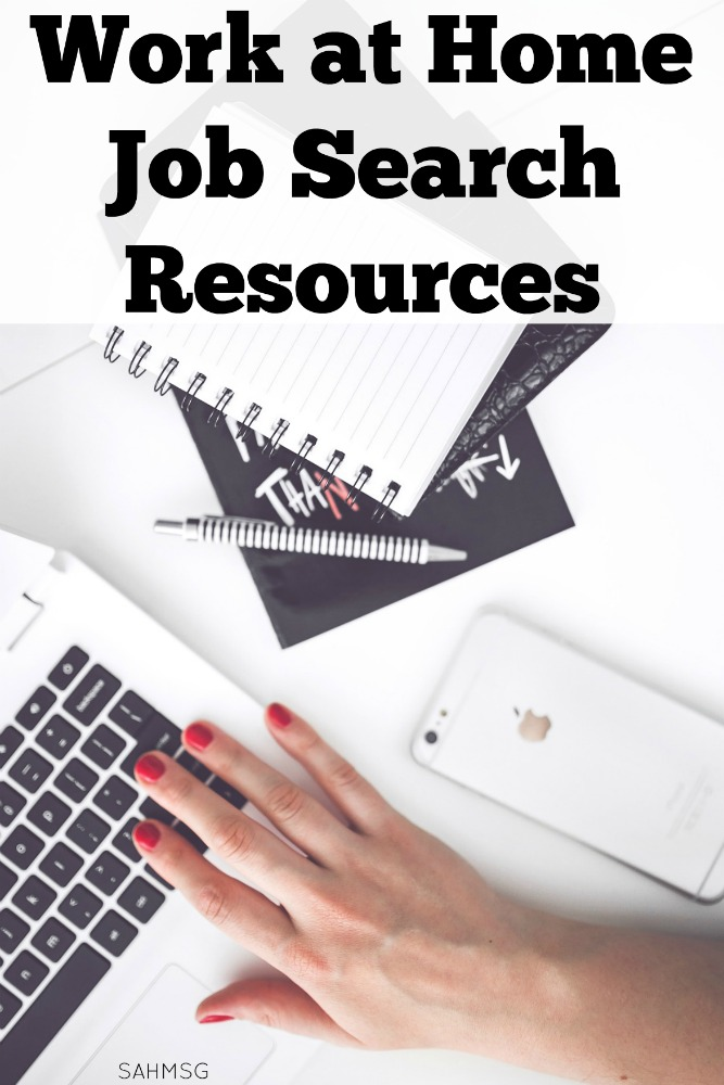 Work at home job search resource list for moms and parents looking to work at home to maximize the time with their children and maintain their career.