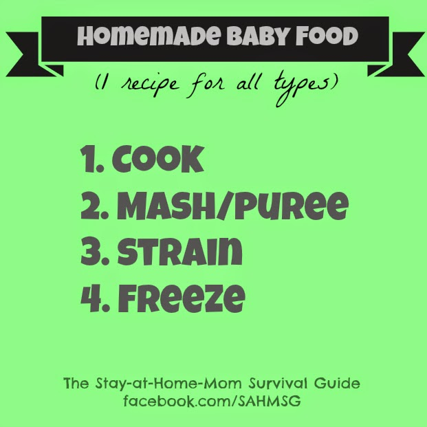 The only recipe you need to make all types of baby food.