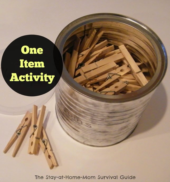 One Item Activity: Clothespins