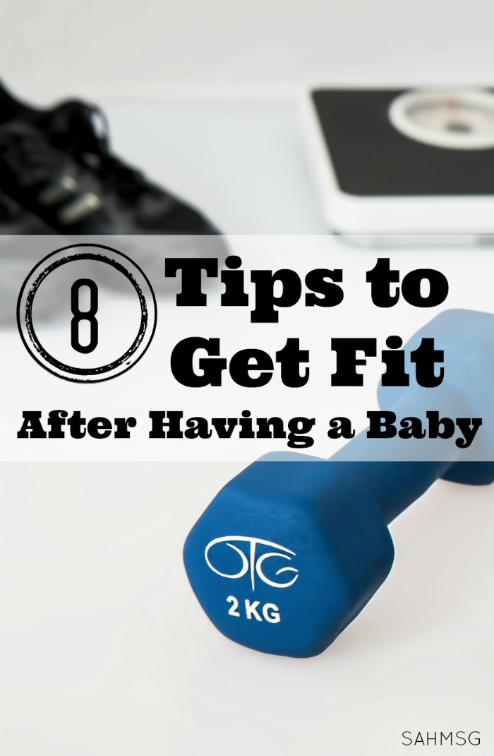 Tips for fitting in exercise and losing weight after having a baby-in a healthy and reasonable way. Simple exercise ideas for busy moms.