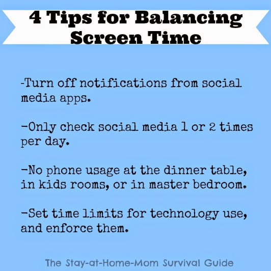 Implement these 4 tips to help kids learn to balance their screen time use.