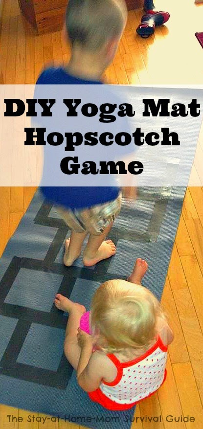Indoor gross motor activity yoga mat diy hopscotch game for Indoor large motor activities for toddlers