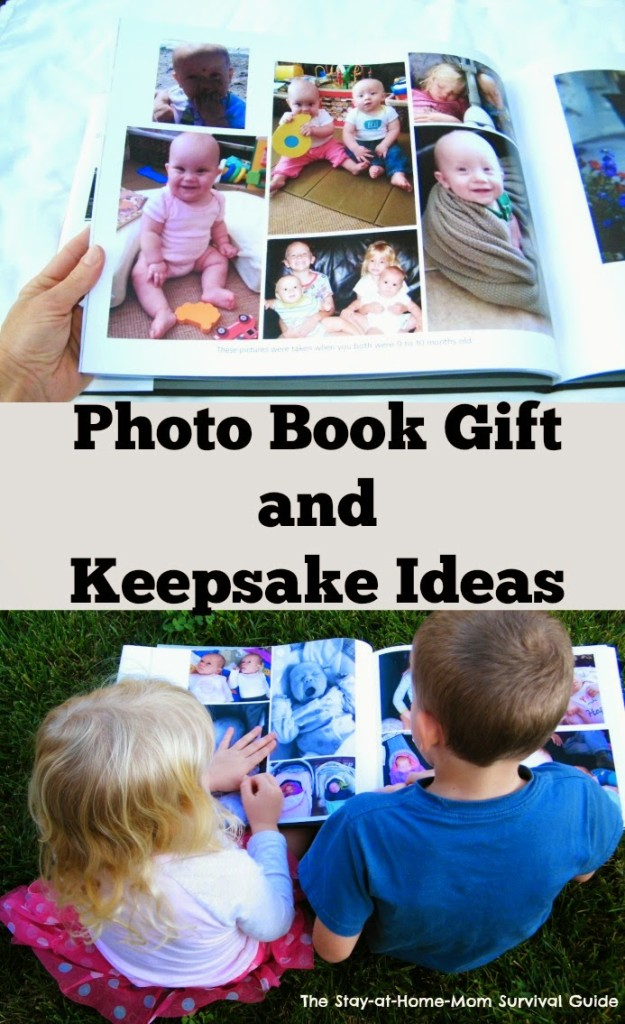 Photo Book Gift and Keepsake Ideas-MyPublsher Review PLUS 6 ideas for photo books and an organizational quick tip from The Stay-at-Home-Mom Survival Guide.