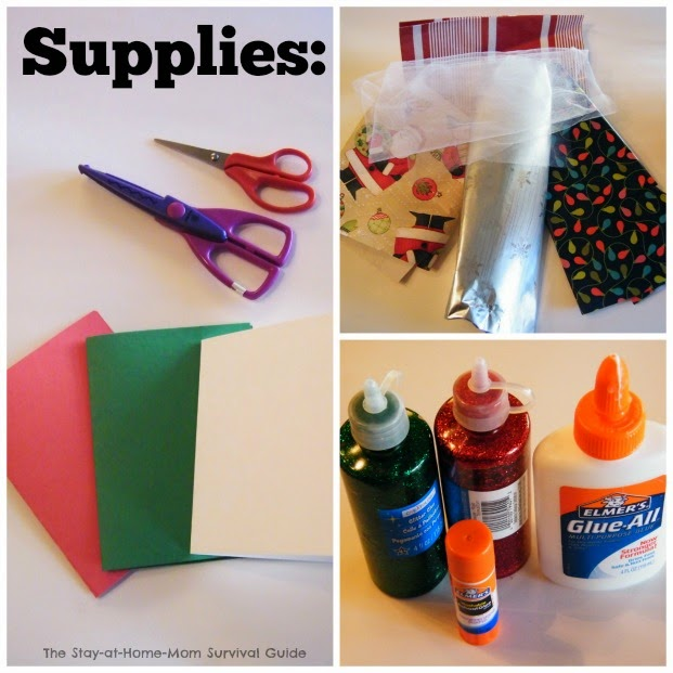Only 3 supplies needed to make handmade greeting cards with kids to teach scissor skills, writing skills and thankfulness.